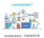 school language learning... | Shutterstock .eps vector #746969179