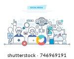 social media concept. media... | Shutterstock .eps vector #746969191