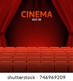 cinema  movie time concept.... | Shutterstock .eps vector #746969209