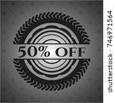 50  off realistic black emblem | Shutterstock .eps vector #746971564
