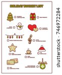 holiday bucket list  funny to... | Shutterstock .eps vector #746972284