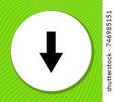 arrow down black vector icon on ...