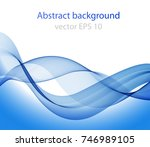 abstract wave on a white... | Shutterstock .eps vector #746989105
