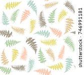 fern frond herbs  tropical...   Shutterstock .eps vector #746991181