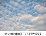 white cloud and blue sky in the ... | Shutterstock . vector #746994031
