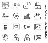 thin line icon set   server ... | Shutterstock .eps vector #746997799