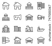 thin line icon set   home ...   Shutterstock .eps vector #747000367