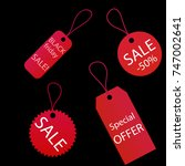 set of black friday sales tag... | Shutterstock .eps vector #747002641