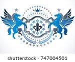 heraldic coat of arms... | Shutterstock .eps vector #747004501