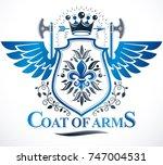 vintage vector design element.... | Shutterstock .eps vector #747004531