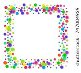 3d confetti on white background.... | Shutterstock . vector #747004939