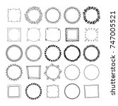 big collection of handdrawn...   Shutterstock .eps vector #747005521