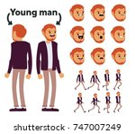 character is a young man. the... | Shutterstock .eps vector #747007249