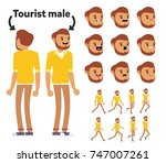 character is a tourist. the... | Shutterstock .eps vector #747007261