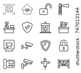 thin line icon set  ... | Shutterstock .eps vector #747013144
