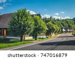 old slovak village in podbiel   ... | Shutterstock . vector #747016879