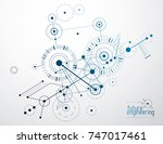 vector industrial and... | Shutterstock .eps vector #747017461