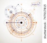 mechanical scheme  vector... | Shutterstock .eps vector #747017815