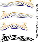 vehicle graphics  stripe  ... | Shutterstock .eps vector #747020245