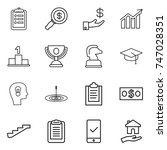 thin line icon set   clipboard  ... | Shutterstock .eps vector #747028351