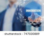 innovation concept with... | Shutterstock . vector #747030889