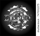 stereo written on a grey...   Shutterstock .eps vector #747031375