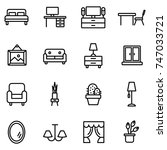 furniture and home decor icon... | Shutterstock .eps vector #747033721