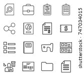 thin line icon set   search... | Shutterstock .eps vector #747034015