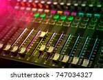 professional sound and audio... | Shutterstock . vector #747034327