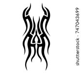 tattoo tribal vector design.... | Shutterstock .eps vector #747043699