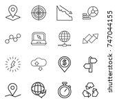 thin line icon set   pointer ... | Shutterstock .eps vector #747044155