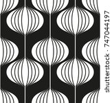 seamless geometric pattern with ... | Shutterstock .eps vector #747044197