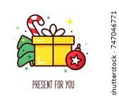 vector christmas presents ... | Shutterstock .eps vector #747046771