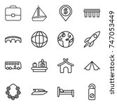 thin line icon set   portfolio  ... | Shutterstock .eps vector #747053449