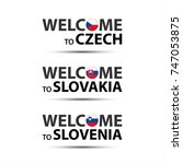 welcome to czech  welcome to...   Shutterstock .eps vector #747053875