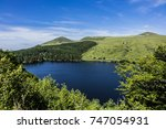 view of lake guery. lake guery... | Shutterstock . vector #747054931
