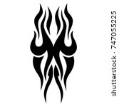 tattoo tribal vector design.... | Shutterstock .eps vector #747055225