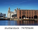 albert dock and liver buildings ...