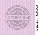 most popular pink emblem.... | Shutterstock .eps vector #747060421