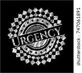 urgency on chalkboard | Shutterstock .eps vector #747061891