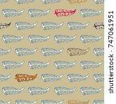 seamless pattern with rustic... | Shutterstock .eps vector #747061951
