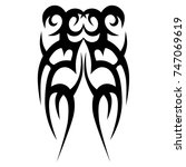 tattoo tribal vector design.... | Shutterstock .eps vector #747069619