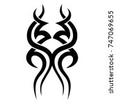 tattoo tribal vector design.... | Shutterstock .eps vector #747069655