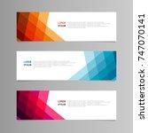 banner design. abstract... | Shutterstock .eps vector #747070141