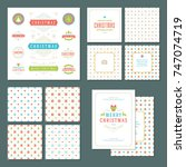 christmas labels and badges... | Shutterstock .eps vector #747074719
