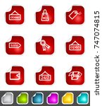 modern set of design elements.... | Shutterstock . vector #747074815