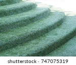 staircase covered artificial... | Shutterstock . vector #747075319