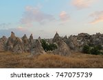 natural valley with volcanic... | Shutterstock . vector #747075739