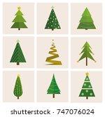 set of different  vector...   Shutterstock .eps vector #747076024