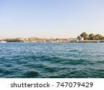 military navy ships in a sea... | Shutterstock . vector #747079429